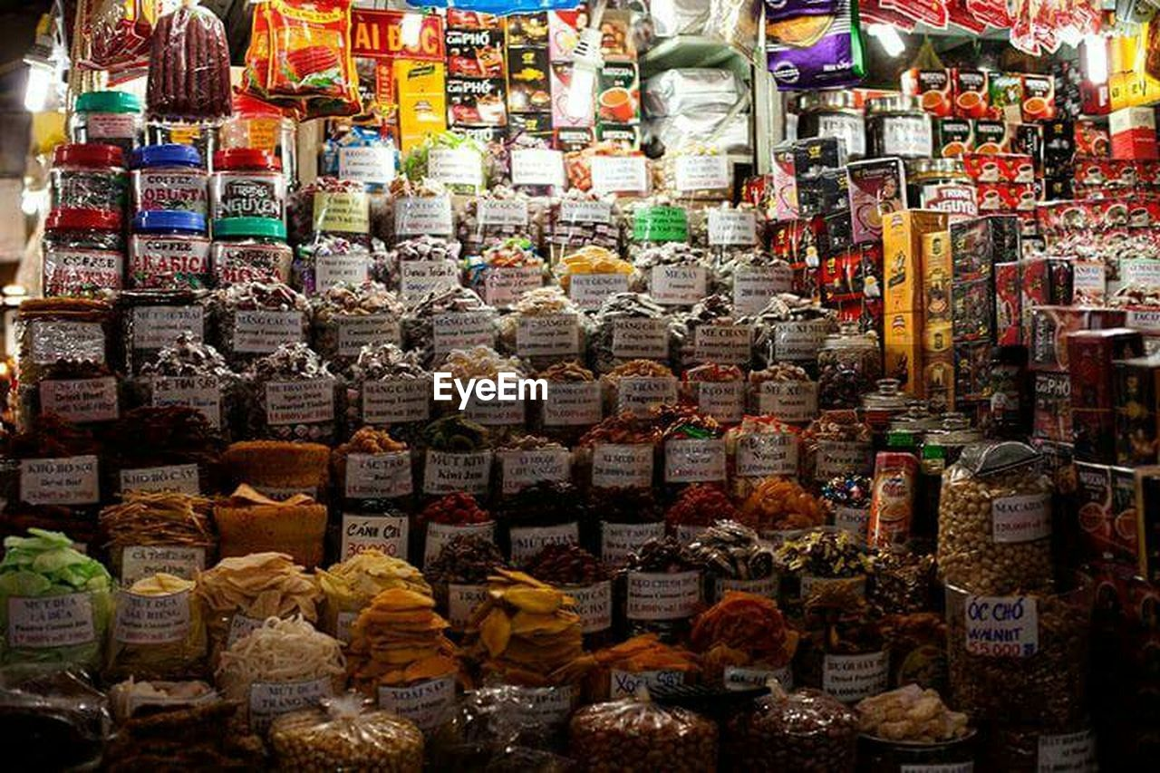 large group of objects, for sale, variation, choice, retail, in a row, abundance, arrangement, market, multi colored, food, no people, market stall, souvenir, food and drink, collection, full frame, indoors, shelf, day, price tag, supermarket, freshness