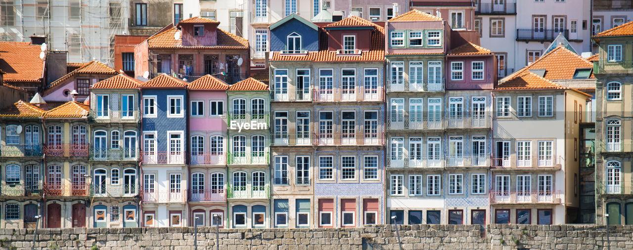 Full frame shot of residential buildings