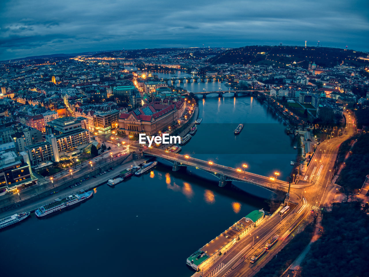 Aerial view pf prague