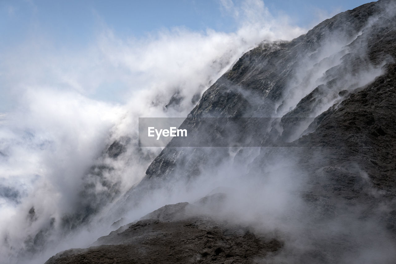 Scenic view of volcanic landscape