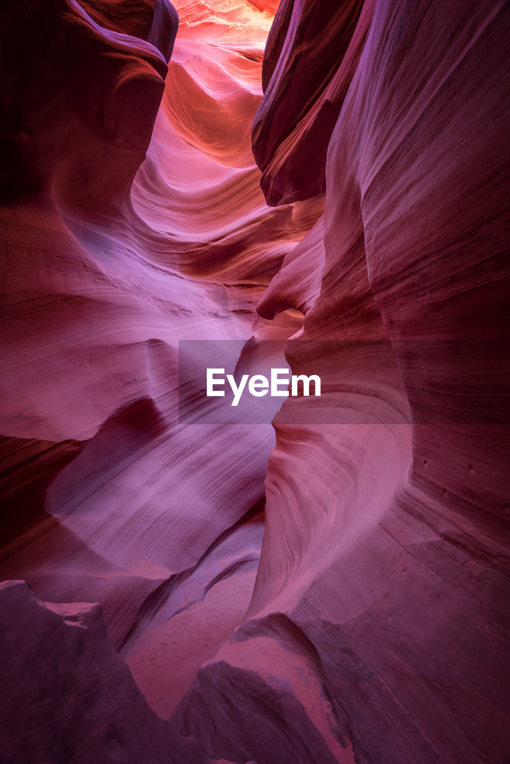 Rock formations at lower antelope canyon
