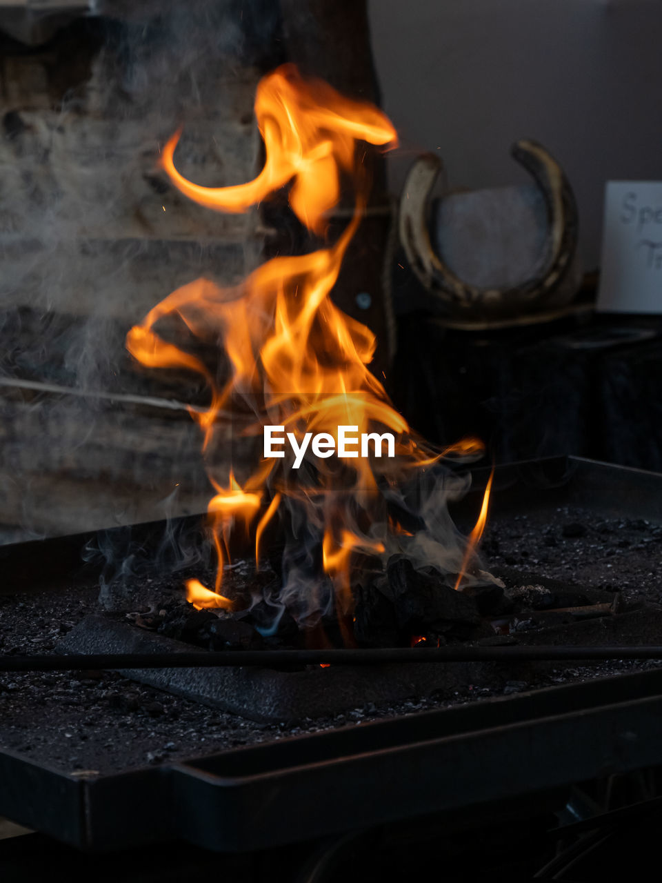 heat - temperature, burning, fire, flame, fire - natural phenomenon, motion, glowing, wood - material, no people, smoke - physical structure, nature, orange color, firewood, log, food and drink, wood, close-up, long exposure, food, indoors, bonfire