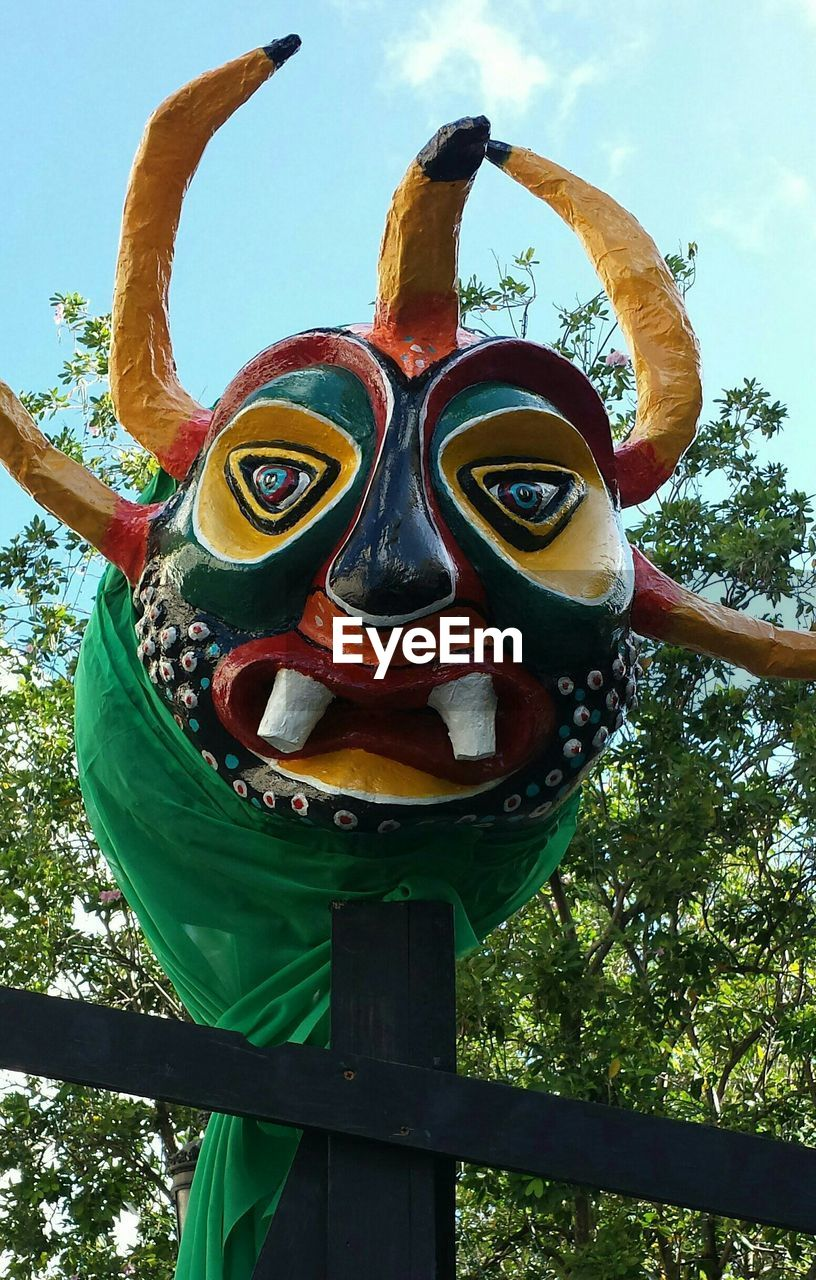 Low Angle View Of Carnival Mask