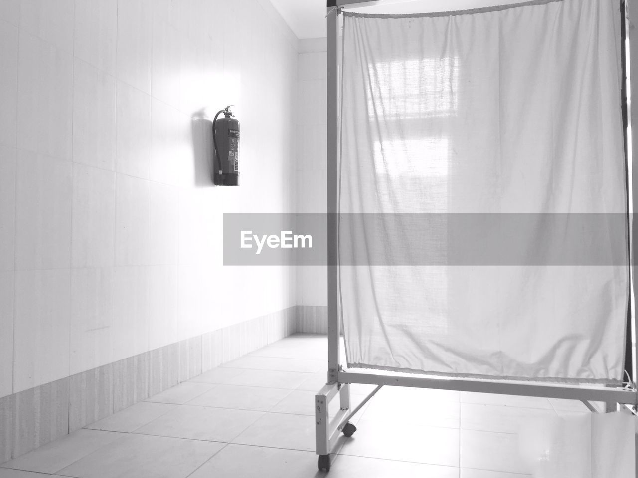 Curtain partition in hospital