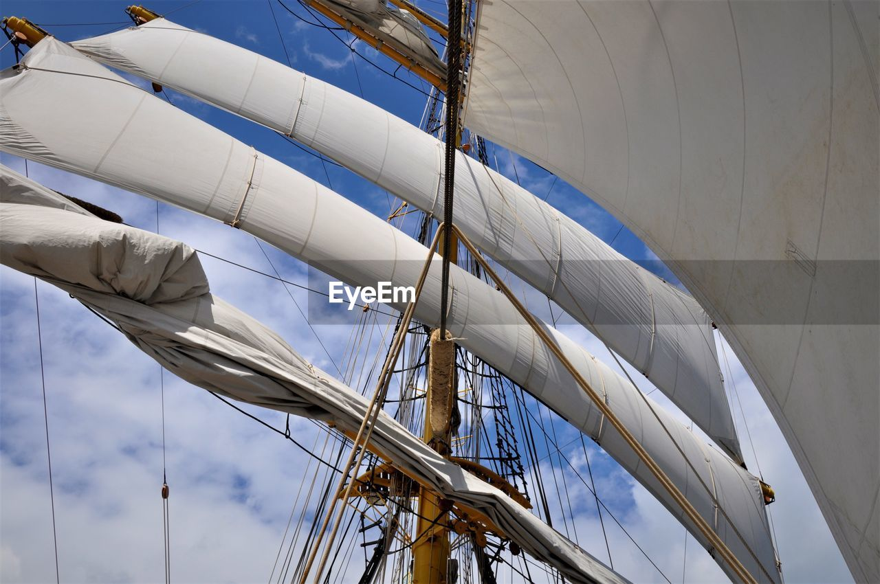 Low Angle View Of Mast
