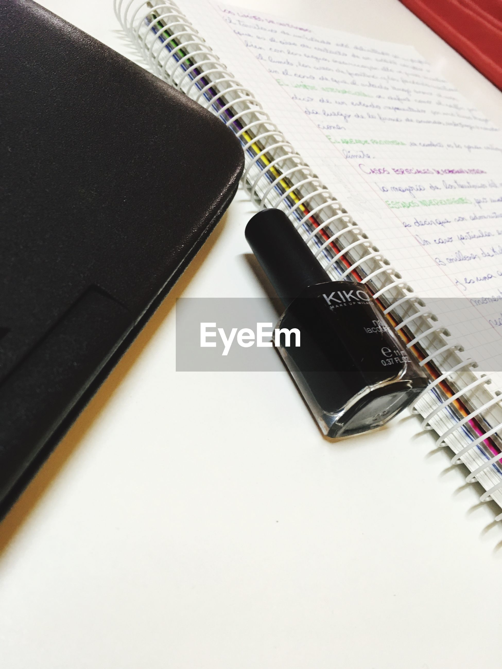 still life, book, table, high angle view, indoors, education, spiral notebook, no people, note pad, close-up, diary, technology, paper, keyboard, day