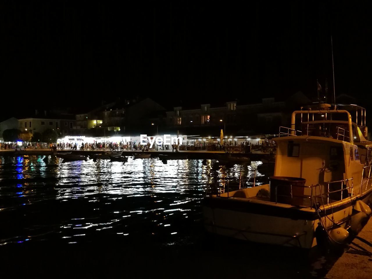 night, nautical vessel, mode of transport, illuminated, boat, building exterior, built structure, water, architecture, transportation, moored, outdoors, no people, sea, harbor, sailing, sky, nature