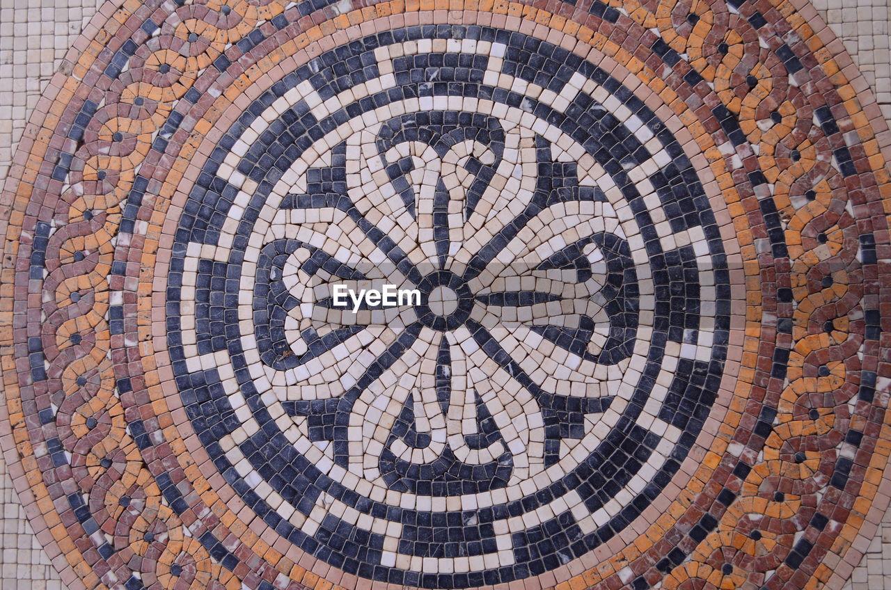 Full frame shot of mosaic wall
