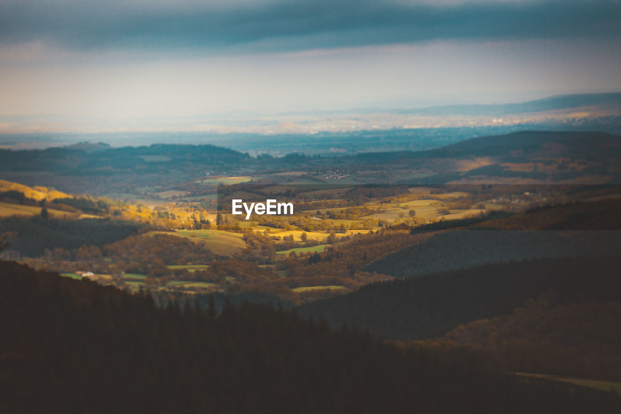 scenics - nature, beauty in nature, environment, landscape, sky, tranquil scene, tranquility, cloud - sky, mountain, nature, no people, non-urban scene, idyllic, outdoors, day, mountain range, sunset, aerial view, tree