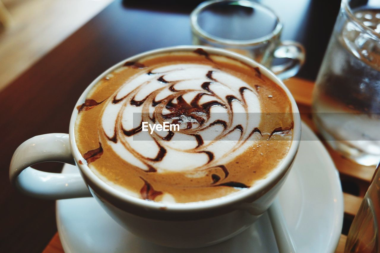 coffee, cup, coffee - drink, coffee cup, mug, drink, refreshment, hot drink, food and drink, frothy drink, cappuccino, froth art, still life, saucer, crockery, close-up, indoors, table, creativity, high angle view, no people, latte, froth, non-alcoholic beverage