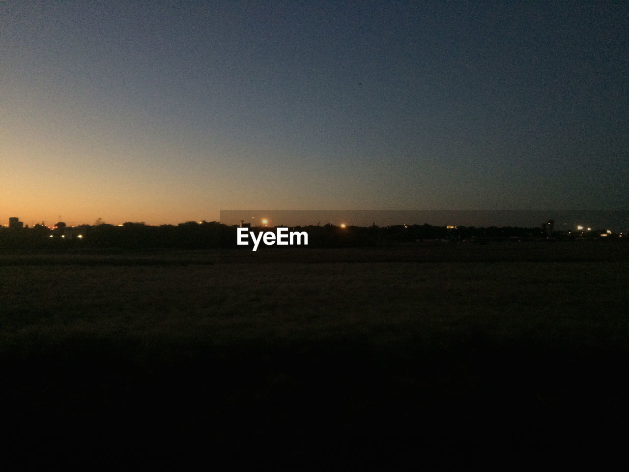 field, landscape, sunset, copy space, clear sky, nature, silhouette, tranquility, no people, night, outdoors, sky, beauty in nature, scenics