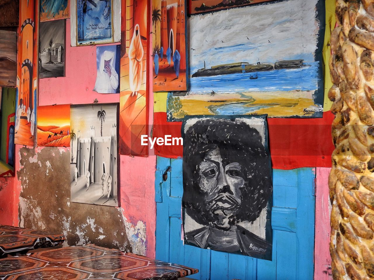 Paintings Hanging On Wall