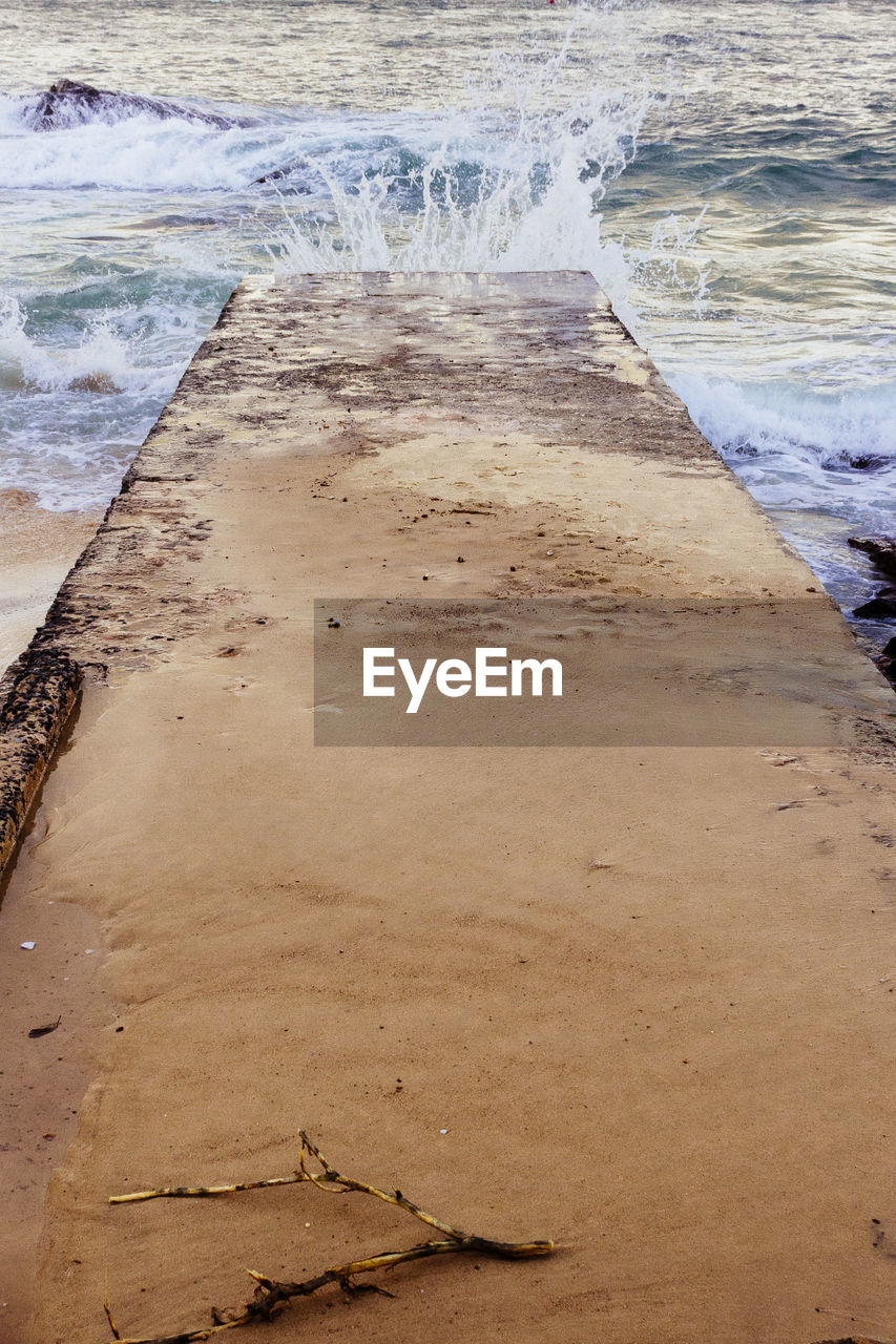 water, beach, sand, sea, nature, wave, high angle view, no people, day, beauty in nature, outdoors, tranquility, scenics