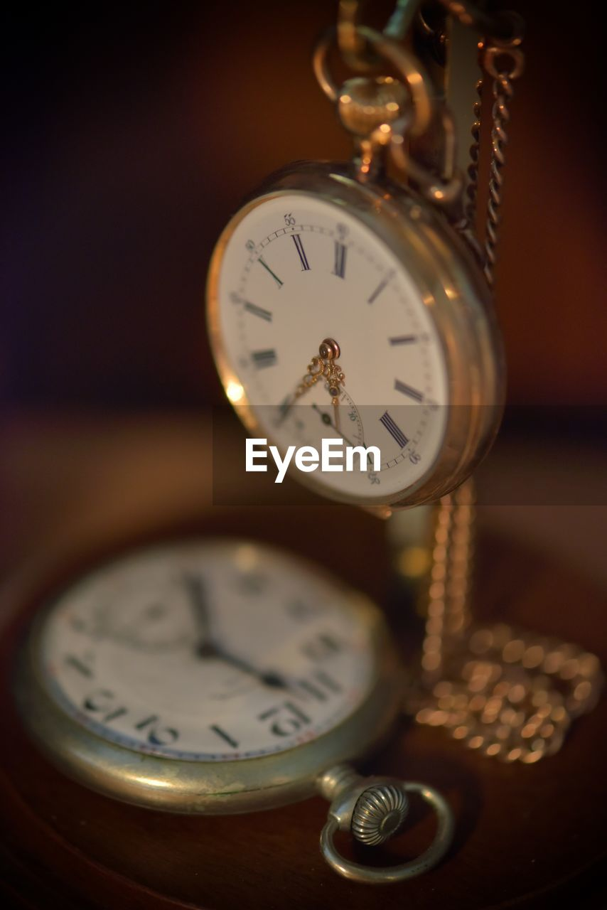time, clock, pocket watch, indoors, old-fashioned, table, accuracy, antique, alarm clock, no people, watch, clock face, close-up, roman numeral, minute hand, gauge, pressure gauge, hour hand, day