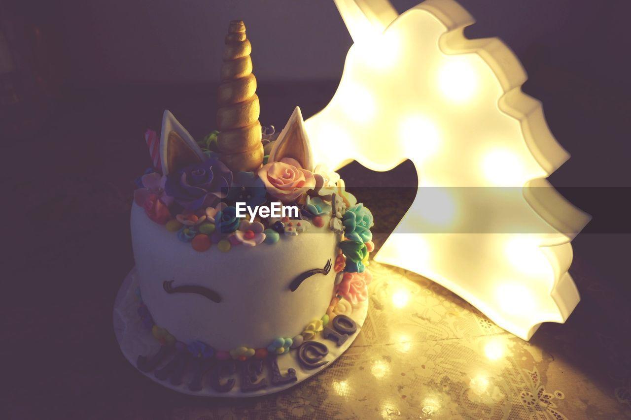 candle, indoors, celebration, no people, table, close-up, illuminated