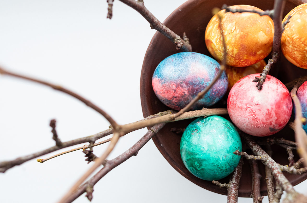 food, food and drink, no people, close-up, fruit, healthy eating, day, easter egg, branch, nature, tree, easter, outdoors, freshness, celebration, wellbeing, selective focus, still life, plant, ripe