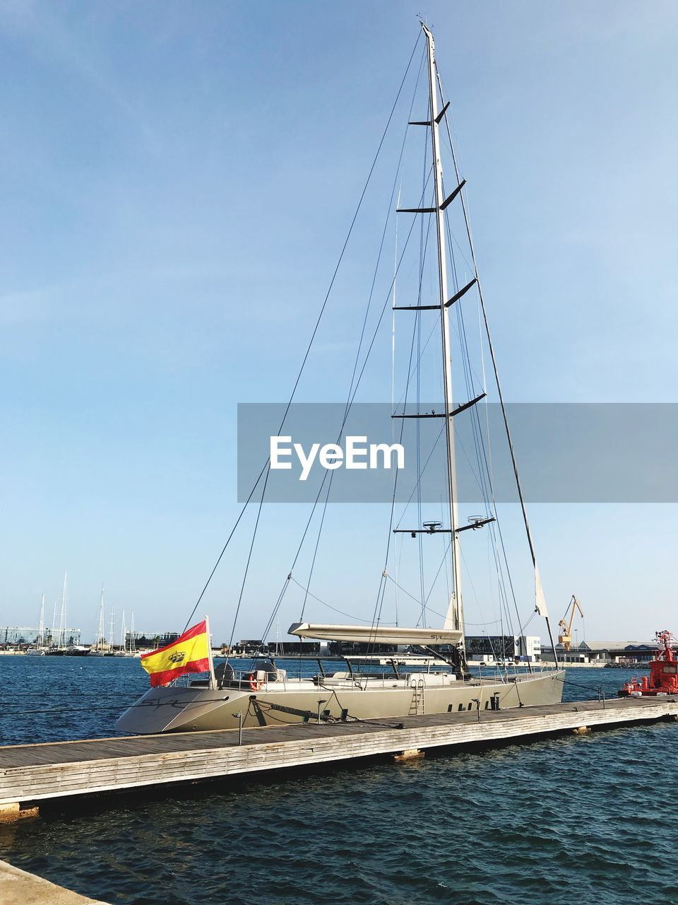 nautical vessel, transportation, water, mode of transportation, sailboat, sea, sky, pole, mast, sailing, nature, waterfront, day, ship, travel, moored, sailing ship, no people, yacht, outdoors, luxury