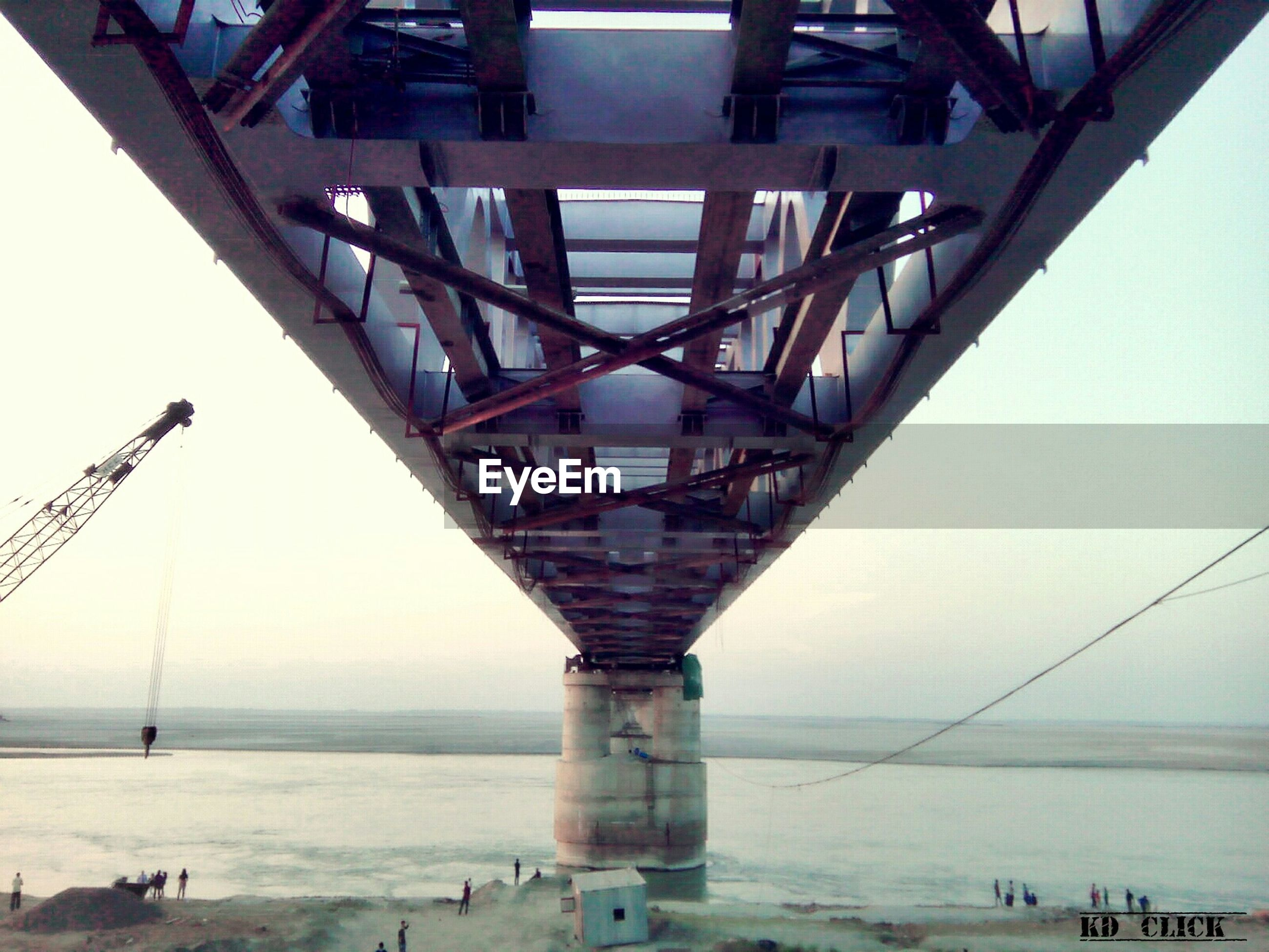 connection, bridge - man made structure, engineering, architecture, built structure, transportation, bridge, outdoors, day, no people, sky, clear sky, water, underneath