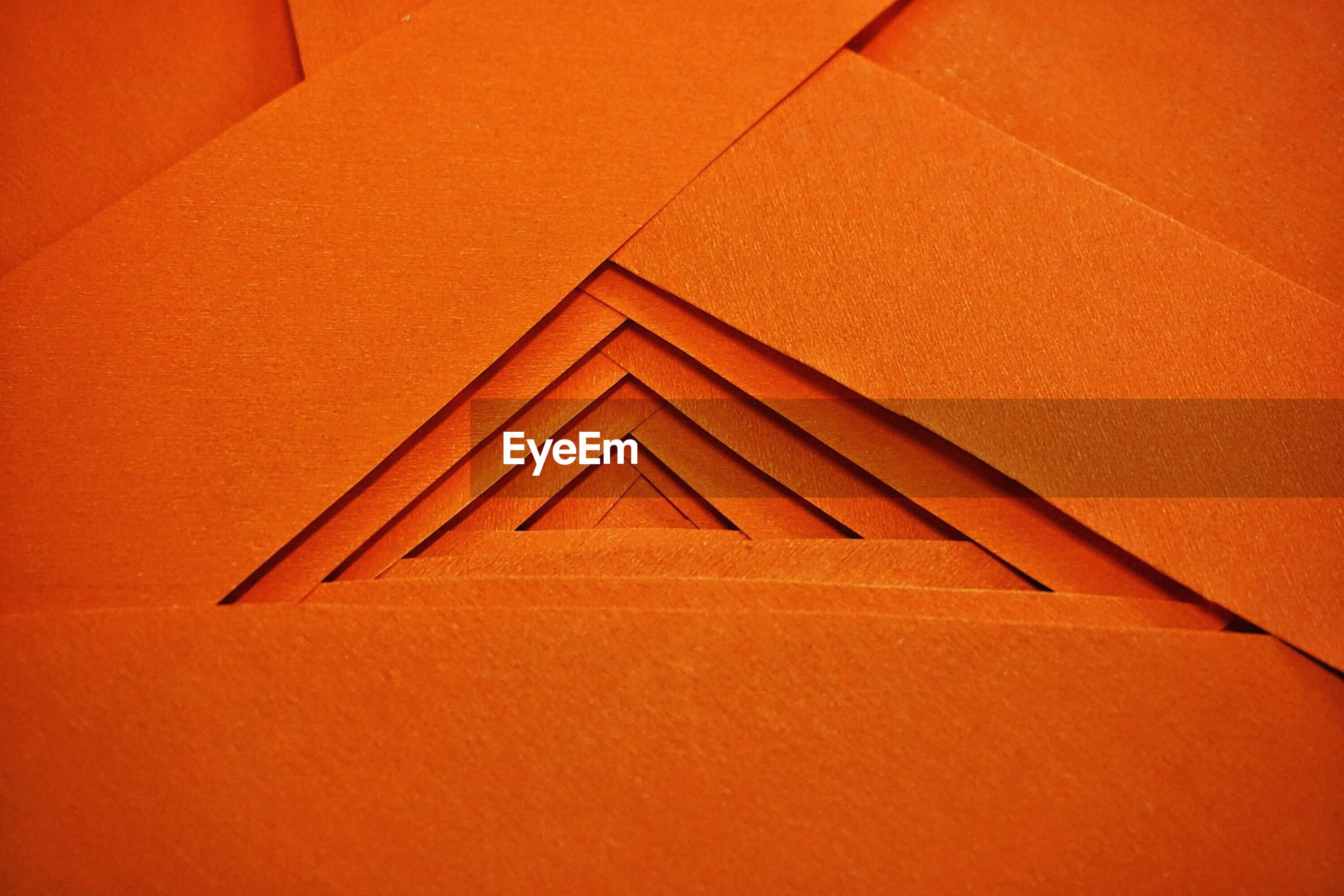 Close-Up Of Orange Colored Abstract