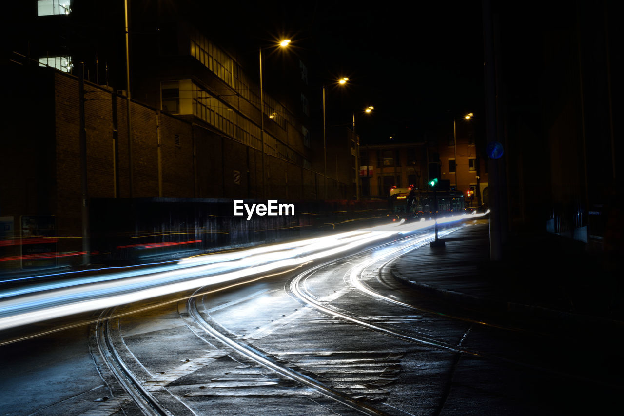 night, illuminated, speed, light trail, transportation, long exposure, motion, high street, no people, building exterior, street, blurred motion, road, architecture, street light, built structure, outdoors, city