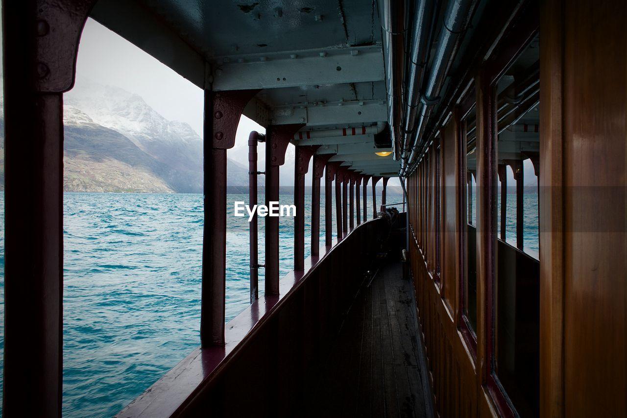Walkway In Nautical Vessel On Sea