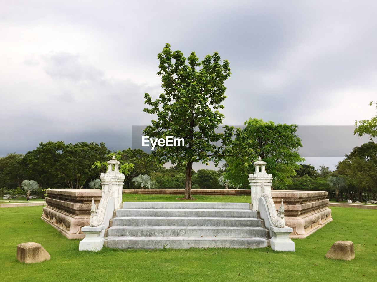 Built Structure In Park Against Sky
