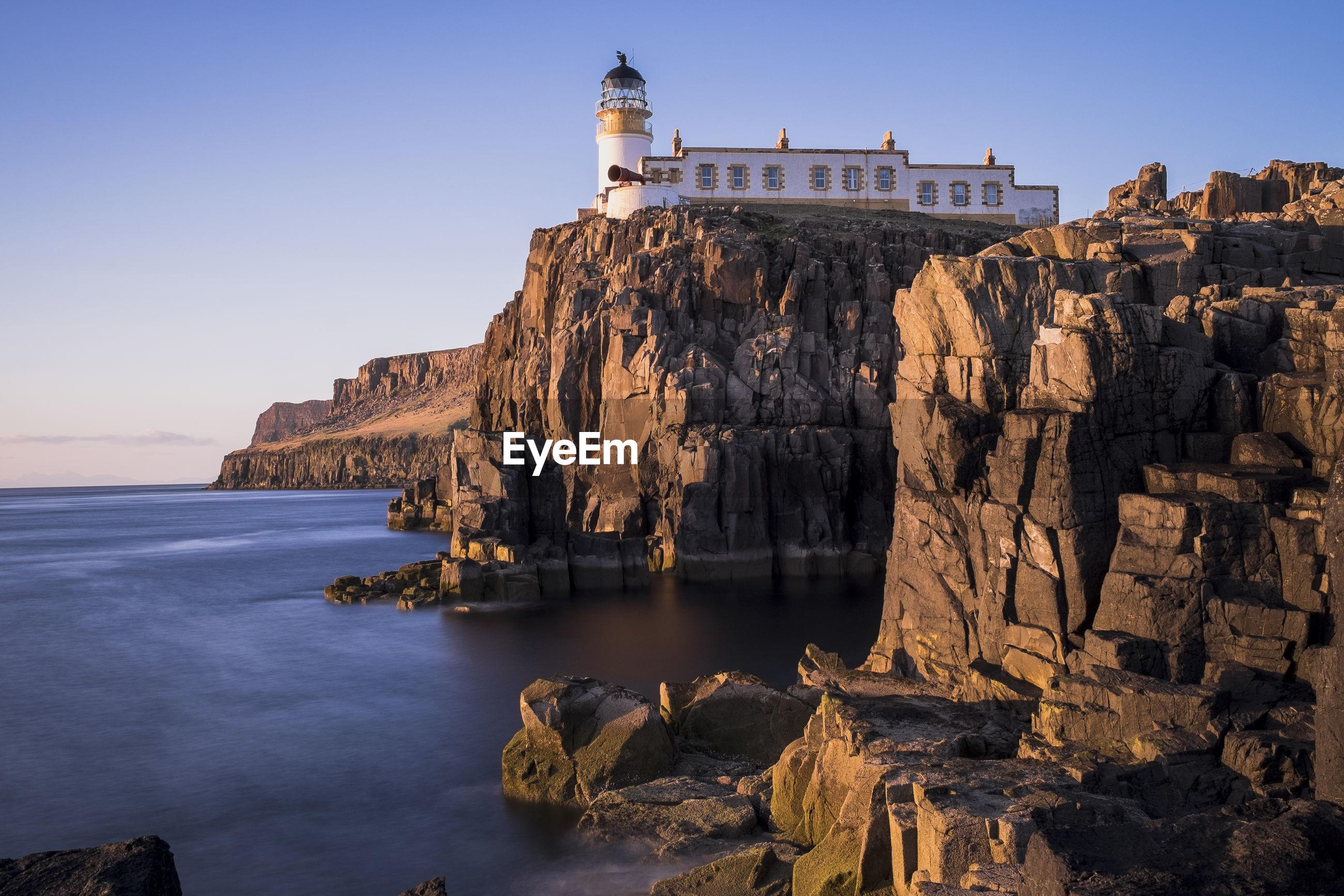 Nest point lighthouse on the isle of skye