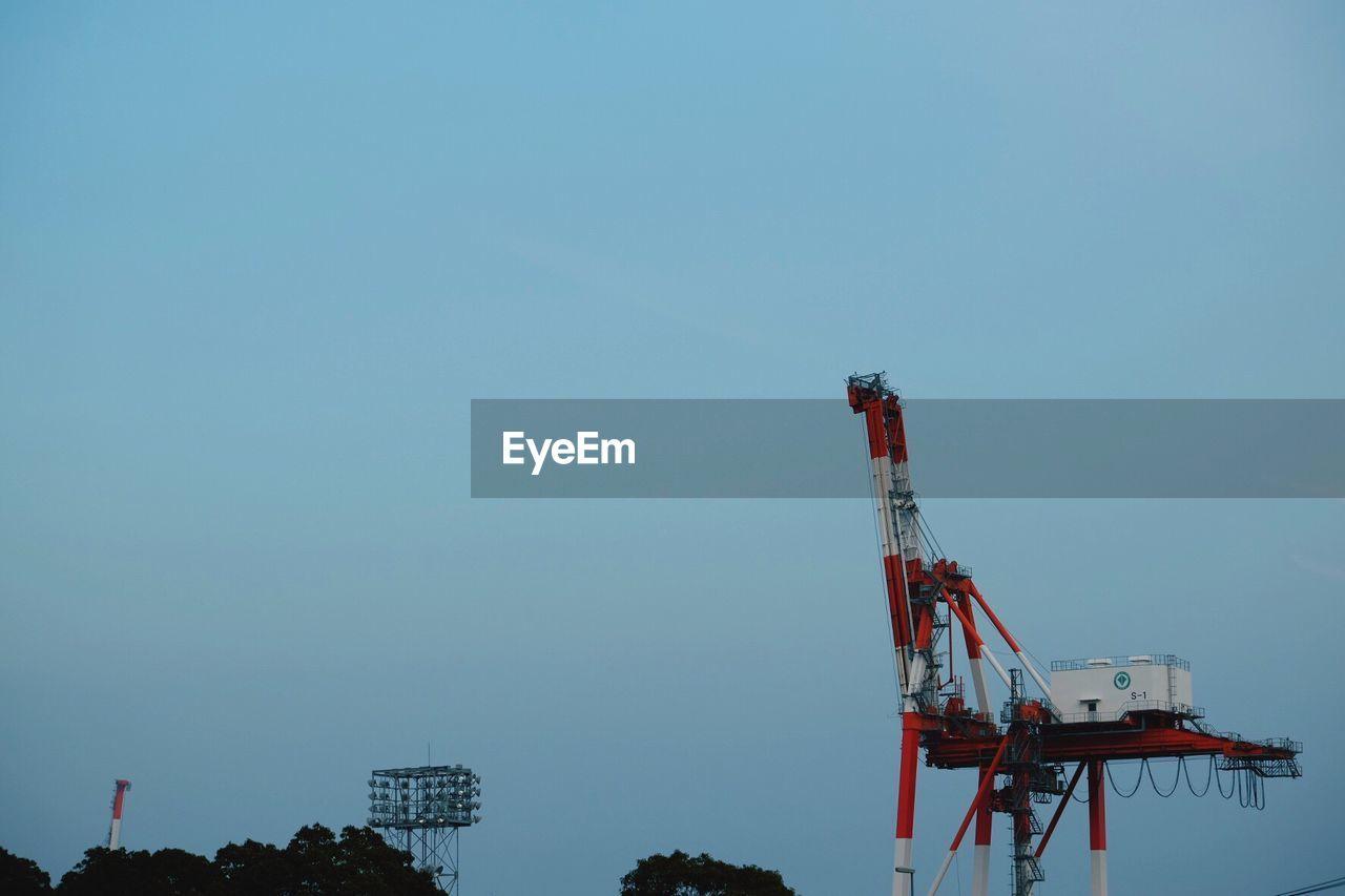 Construction Crane Against Clear Sky