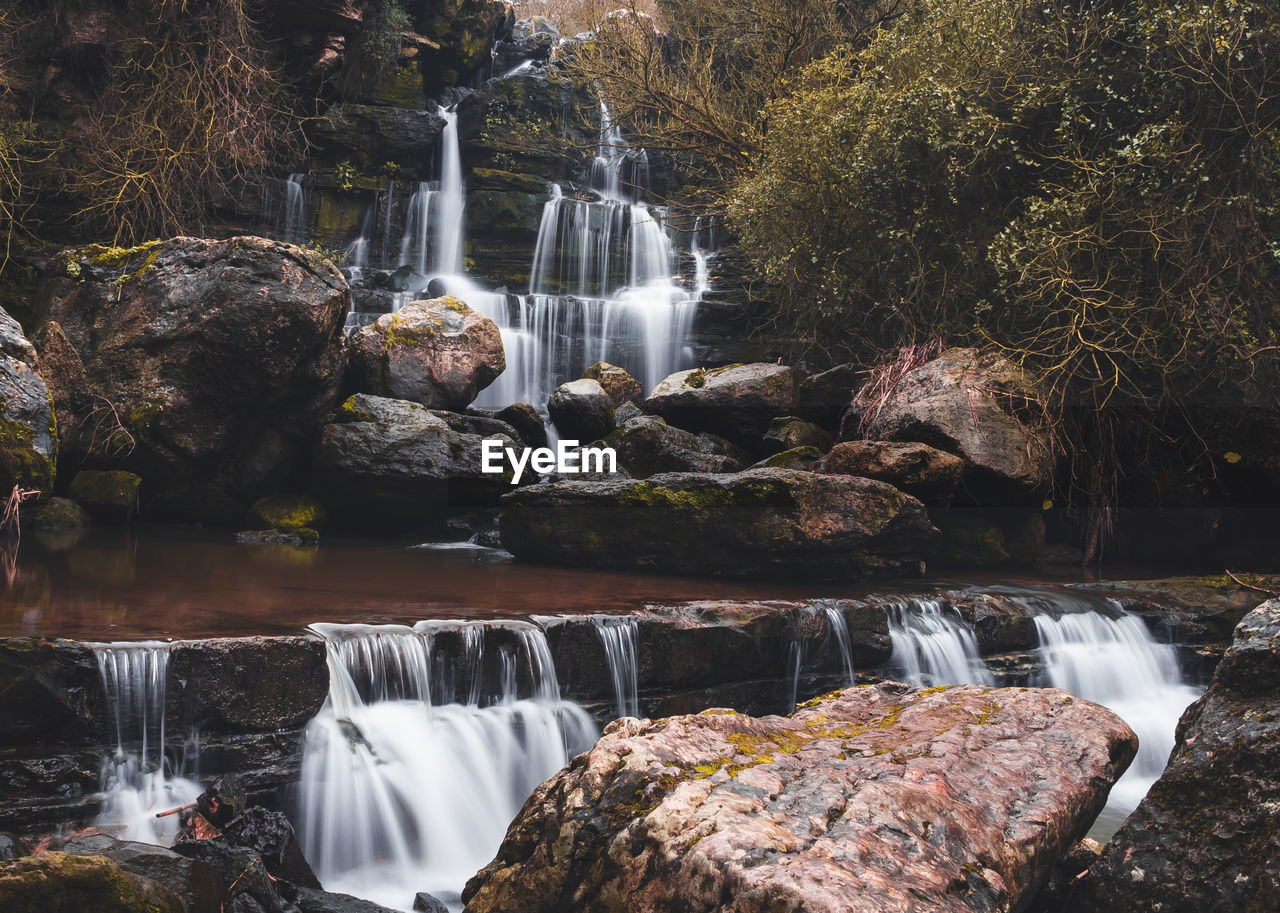 Scenic view of waterfall in libons outskirts.