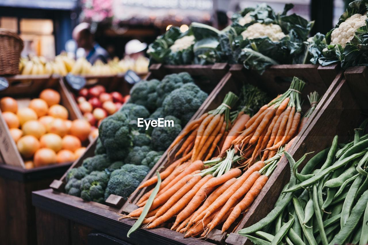 Vegetables At Market For Sale