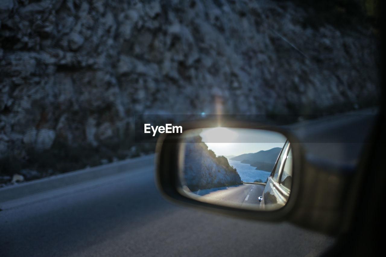 Peljesac Reflecting On Car Side-View Mirror