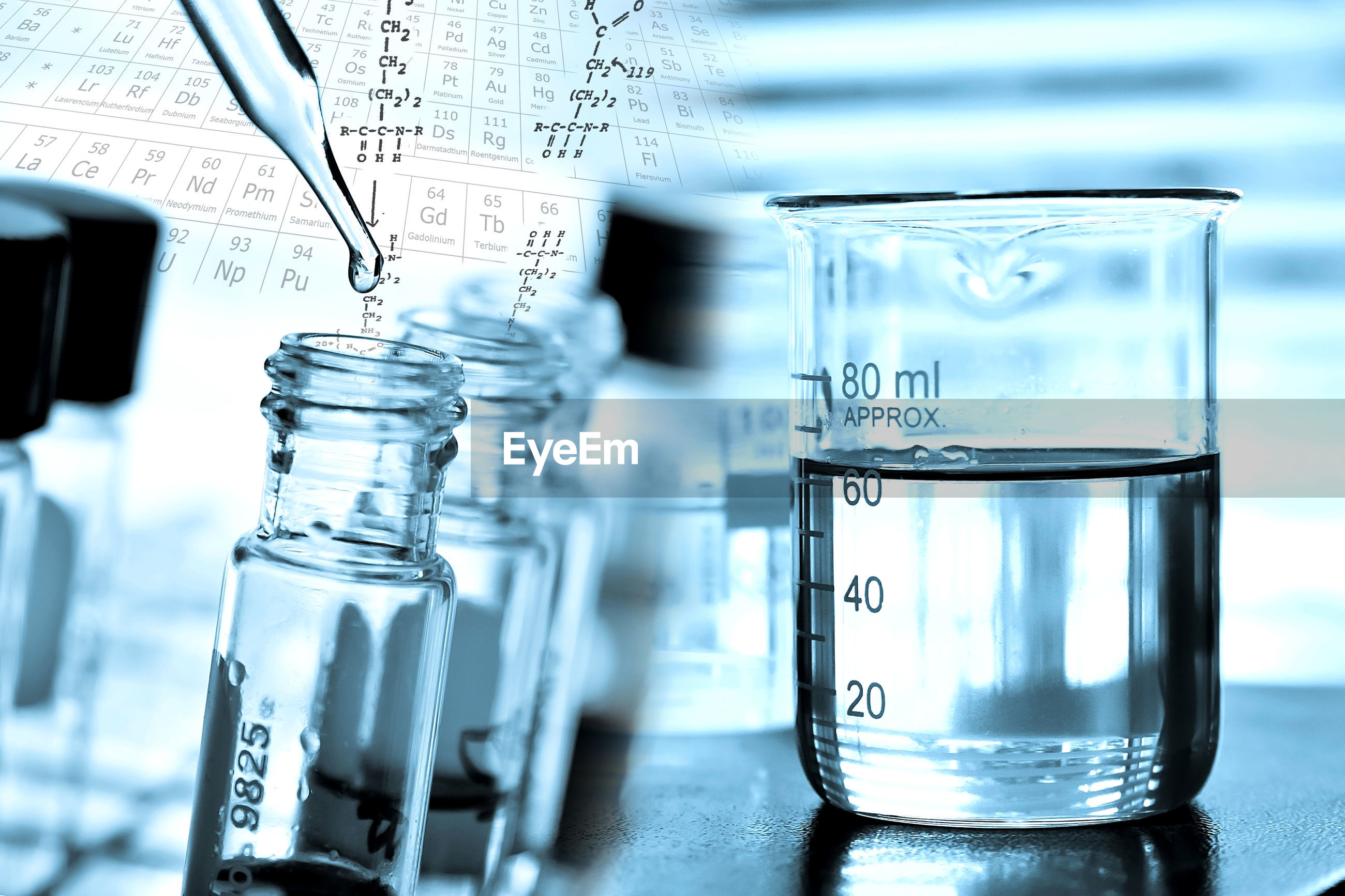 Close-up of laboratory glassware