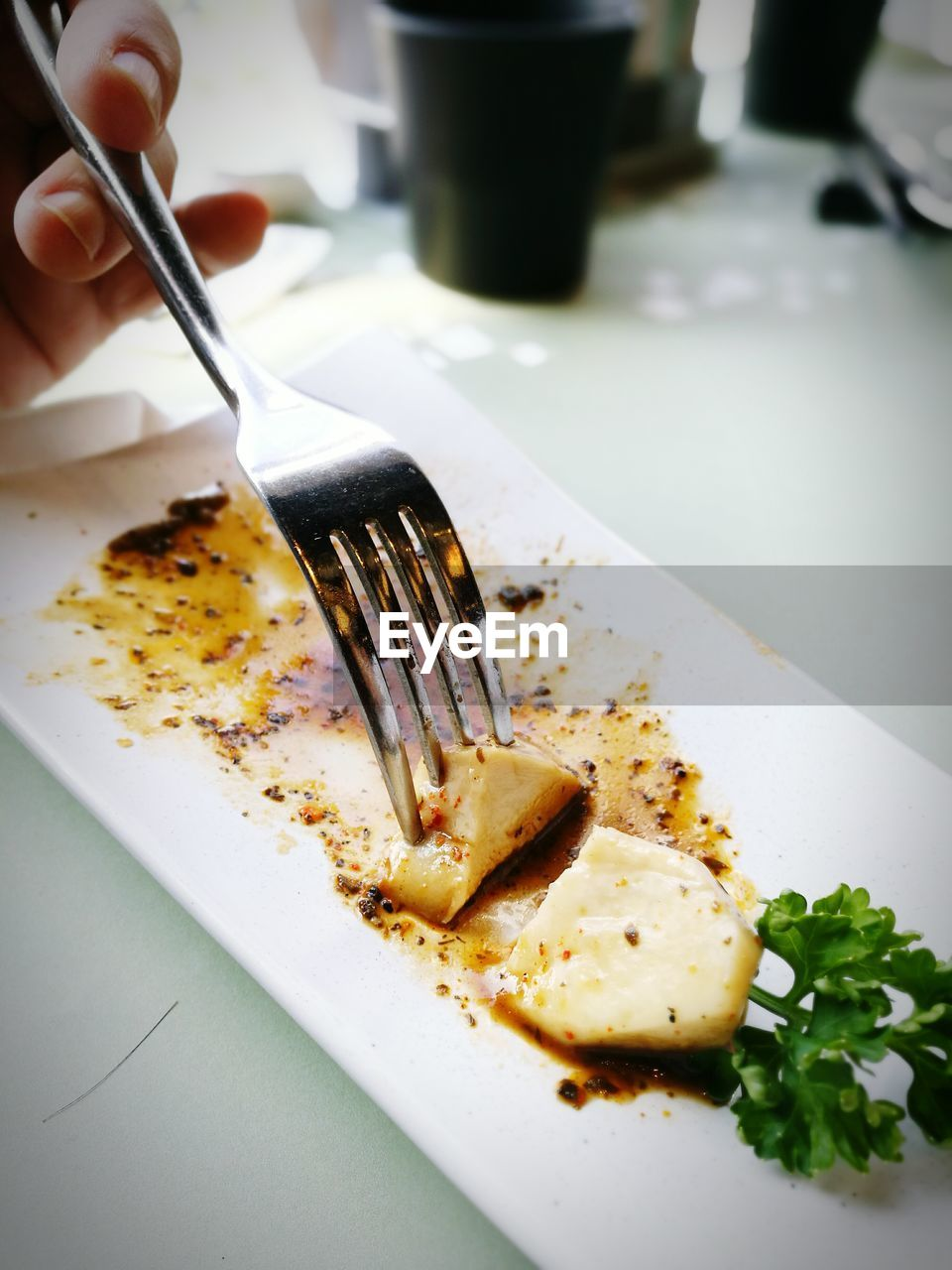 fork, plate, food and drink, food, breakfast, egg, close-up, indoors, healthy eating, freshness, table, human hand, ready-to-eat, day