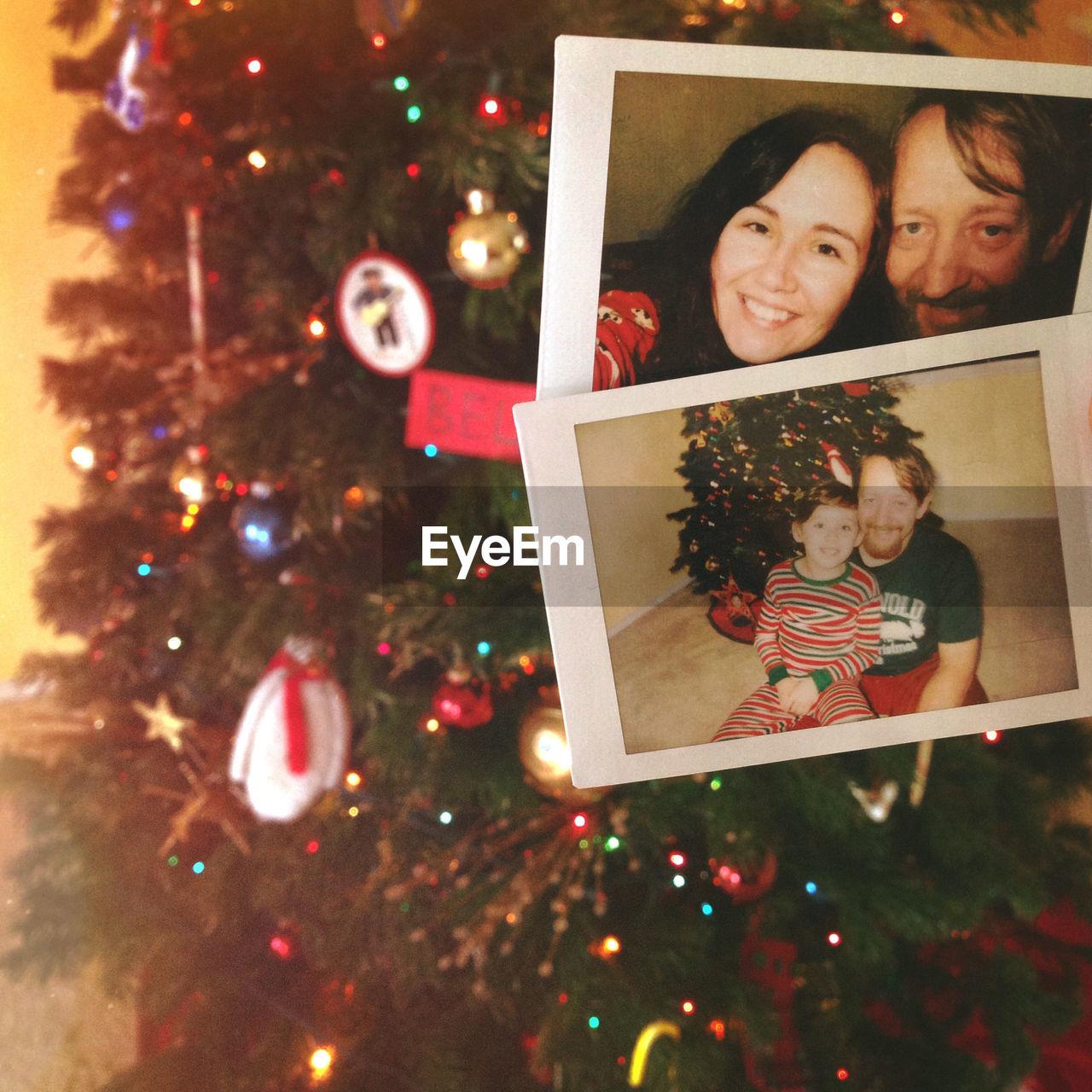 Photograph On Christmas Tree