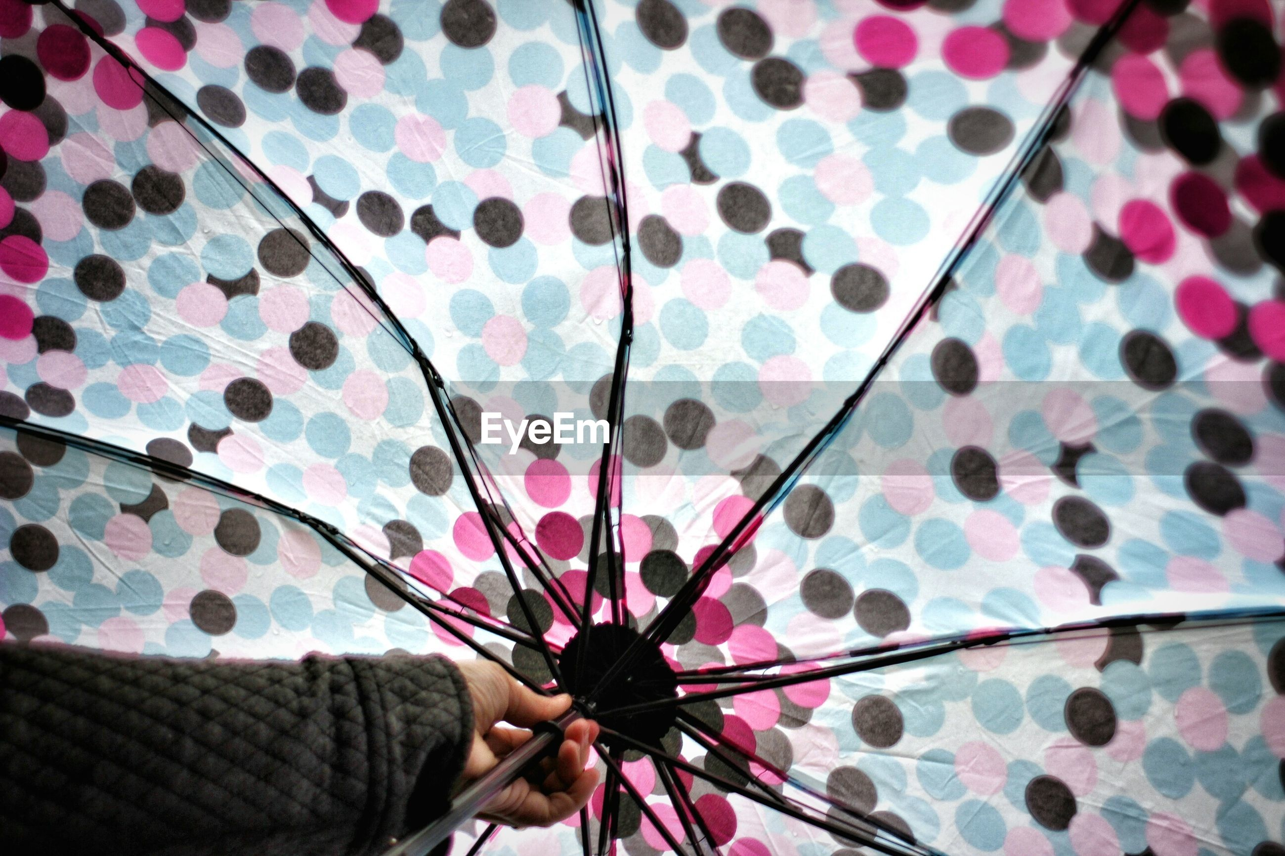 Cropped image of woman holding umbrella