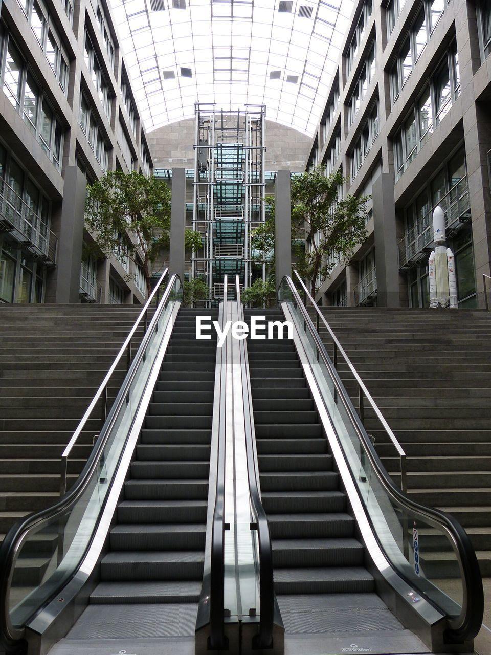 Empty Escalators In Hotel