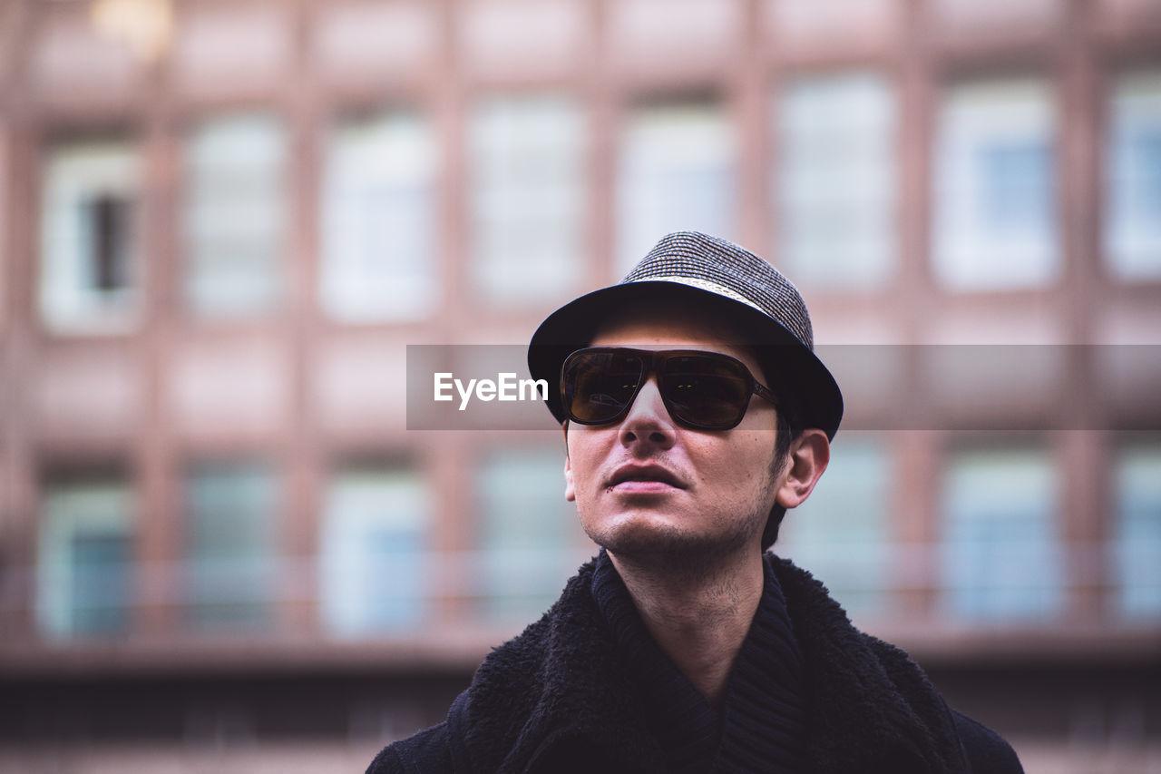 Portrait Of Man Wearing Sunglasses