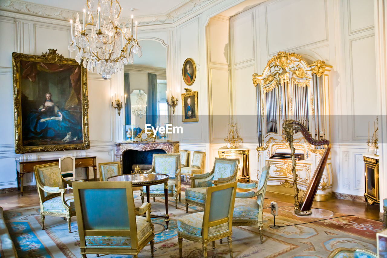 chair, indoors, table, no people, home interior, museum, luxury, furniture, architecture, statue, home showcase interior, day