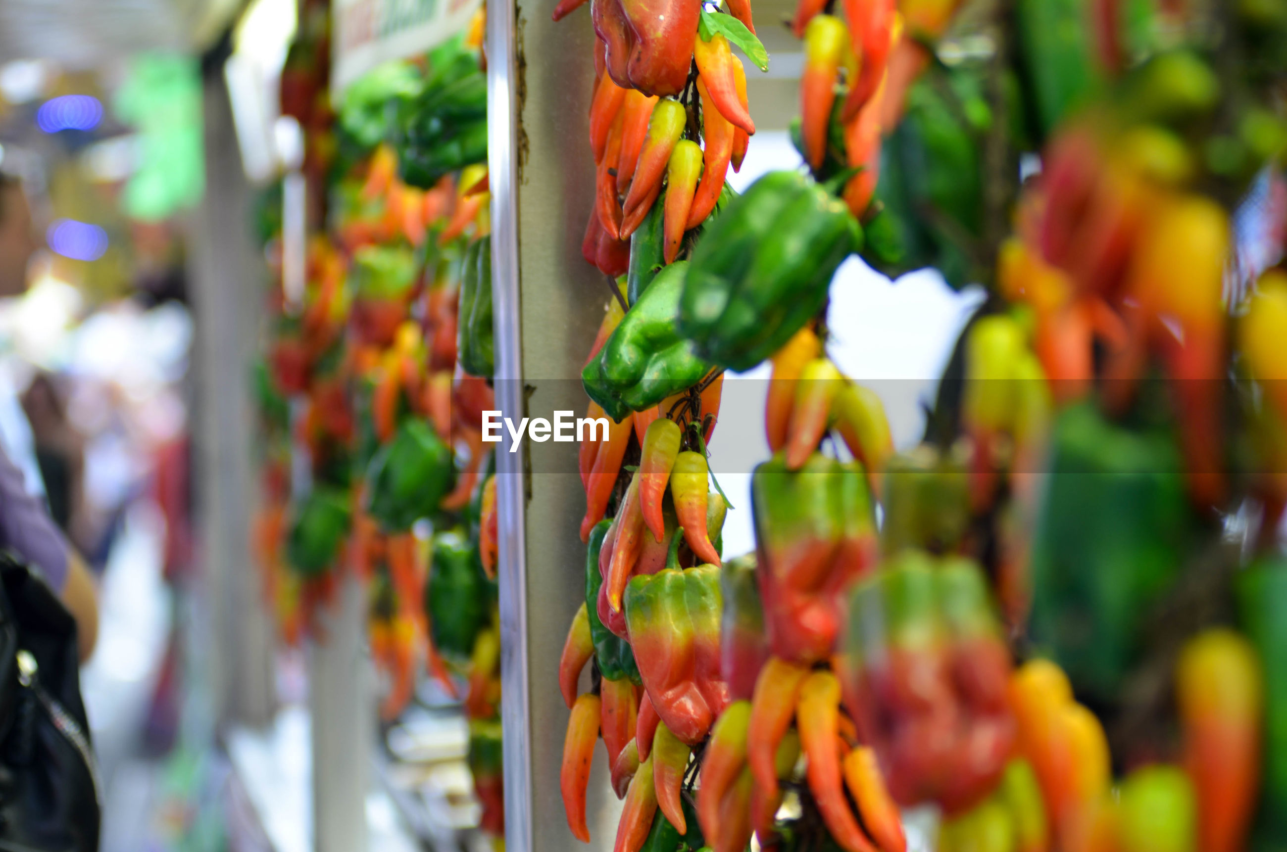 Close-up of vegetables during san gennaro in new york city.