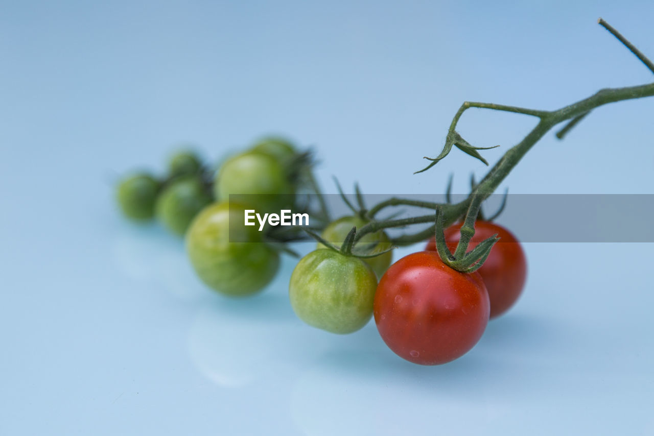 Close-Up Of Cherry Tomatoes On Table