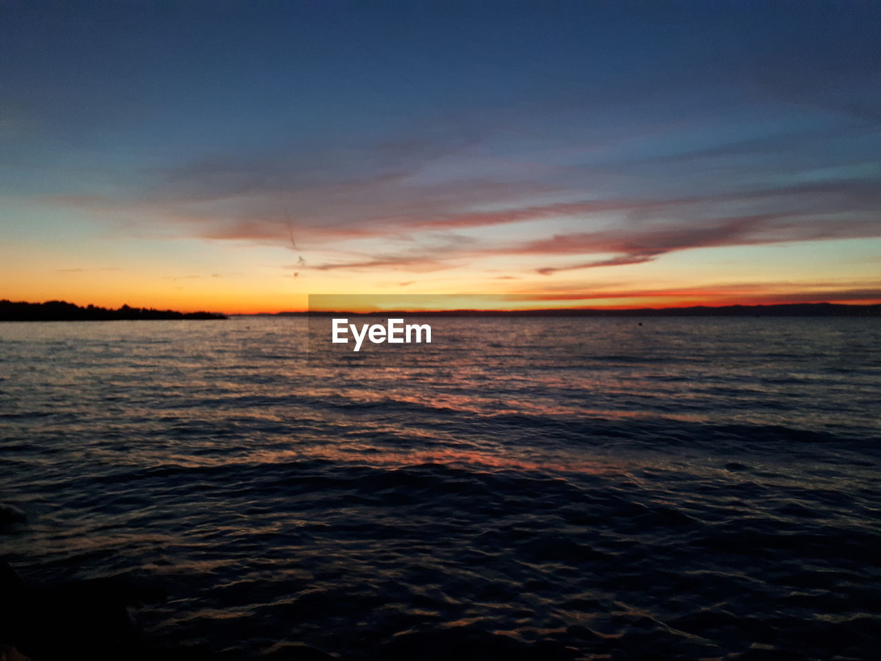sunset, sky, water, sea, beauty in nature, scenics - nature, tranquility, horizon, tranquil scene, cloud - sky, horizon over water, orange color, idyllic, waterfront, nature, no people, wave, rippled, motion, outdoors