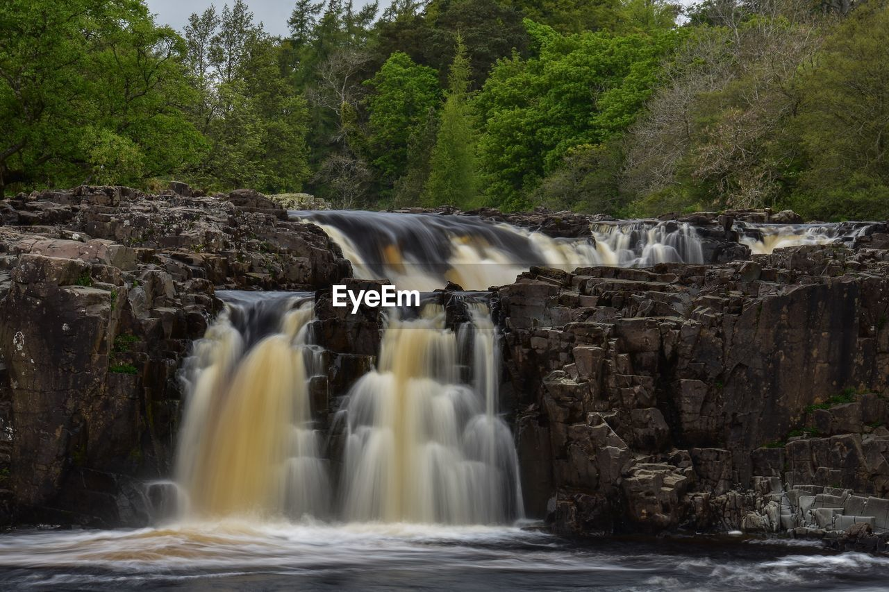 waterfall, long exposure, water, motion, blurred motion, flowing water, scenics - nature, tree, beauty in nature, flowing, power, forest, nature, power in nature, no people, sport, plant, environment, splashing, outdoors, falling water, running water