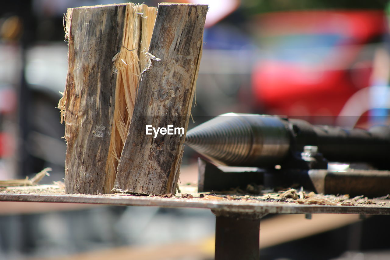 wood - material, focus on foreground, metal, close-up, day, selective focus, no people, rusty, still life, old, business, equipment, outdoors, nature, industry, art and craft, sunlight, textured, brown