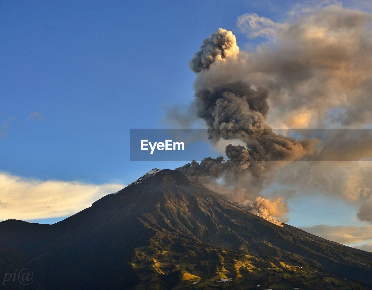 Smoke Emitting From Tungurahua Volcano Against Sky