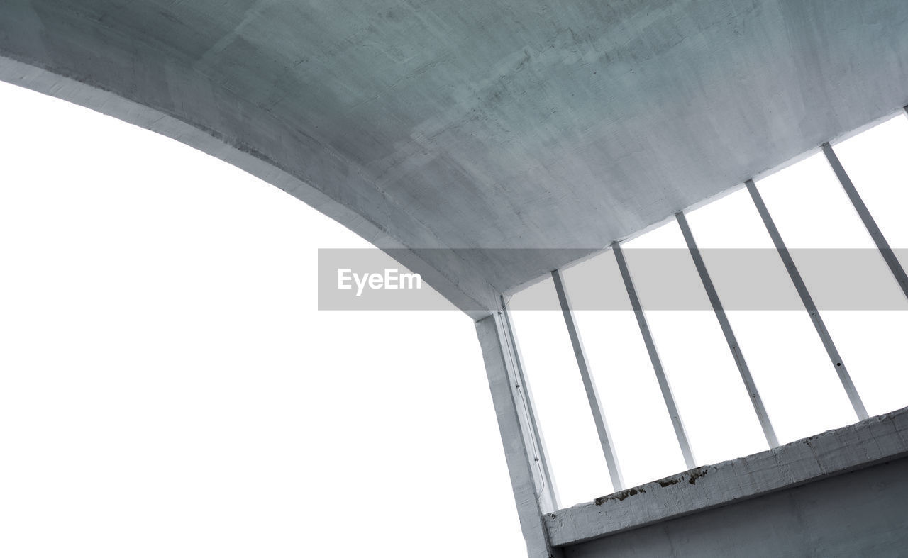low angle view, architecture, bridge - man made structure, built structure, connection, day, no people, outdoors, clear sky, sky