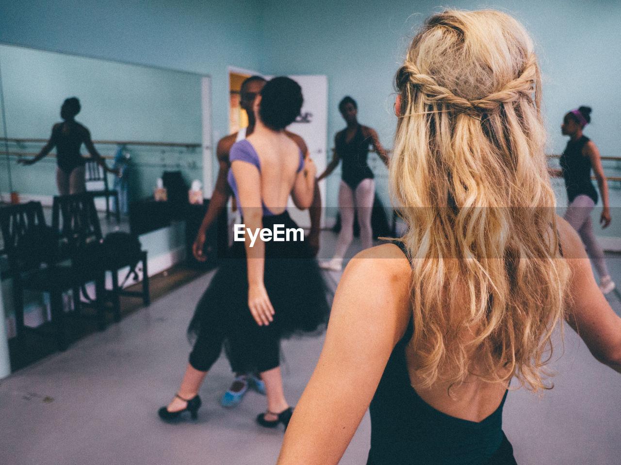 Ballet Dancers At Studio