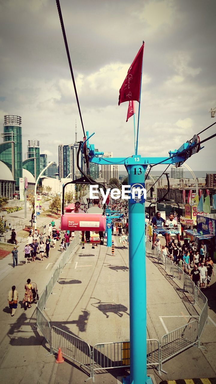 Ski lift at canadian national exhibition in city