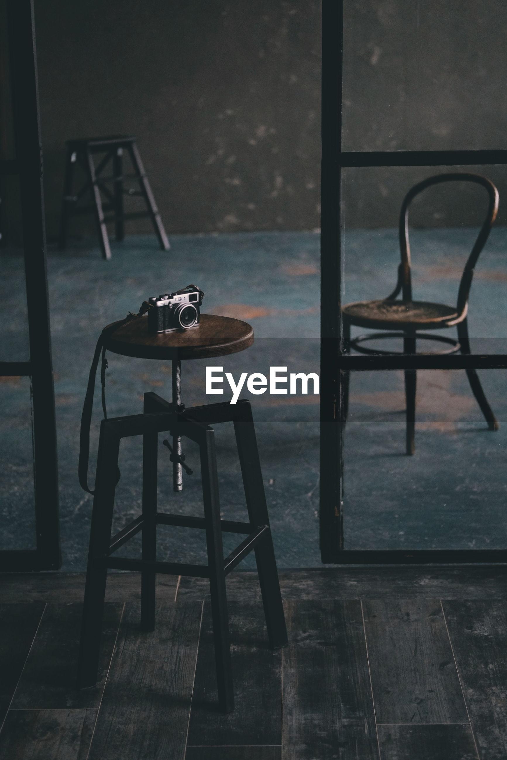 Camera on stool