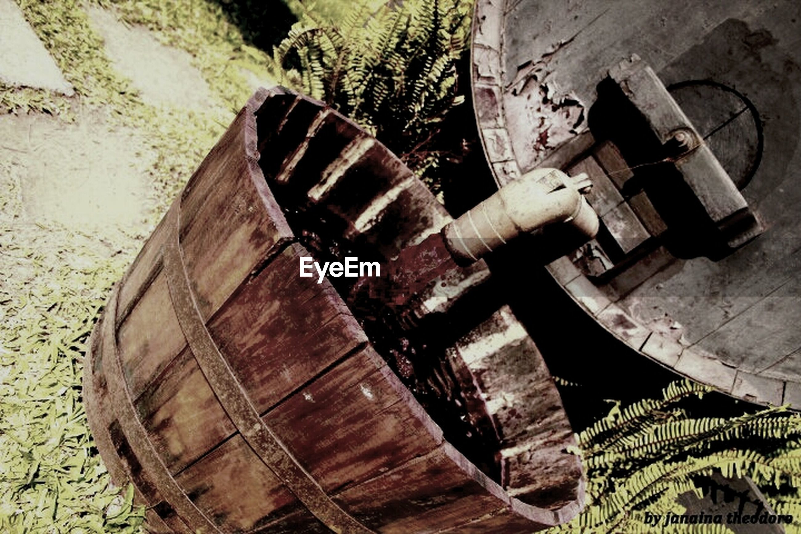 transportation, mode of transport, abandoned, obsolete, old, rusty, damaged, close-up, high angle view, nautical vessel, deterioration, metal, run-down, boat, wheel, outdoors, part of, day, no people, cropped