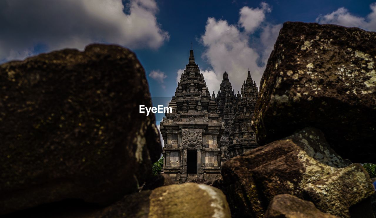 built structure, architecture, sky, cloud - sky, religion, building exterior, belief, place of worship, history, spirituality, solid, ancient, nature, the past, travel destinations, no people, building, travel, rock, ancient civilization, outdoors, archaeology, ruined